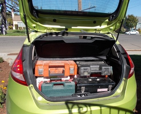 Renovation Road Trip - Car Packed