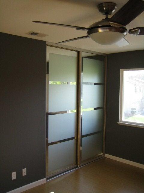 Closet Door DIY - Mirred Closet