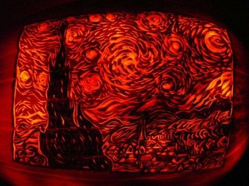 Pumpkin Van Gogh
