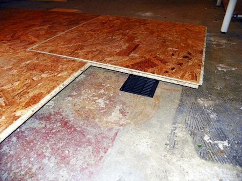 Laying a Subfloor - Floor Panels Detail