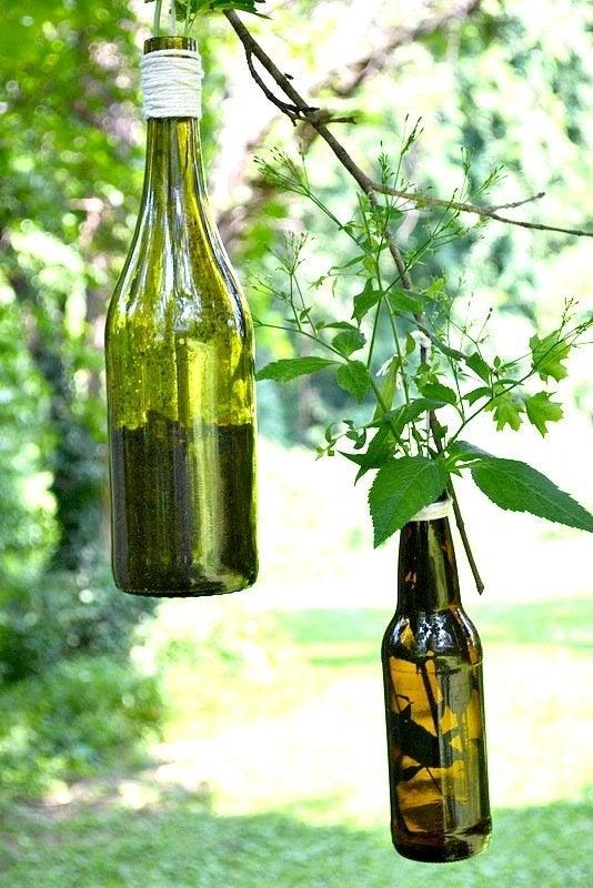 Wine Bottle DIY - Planter