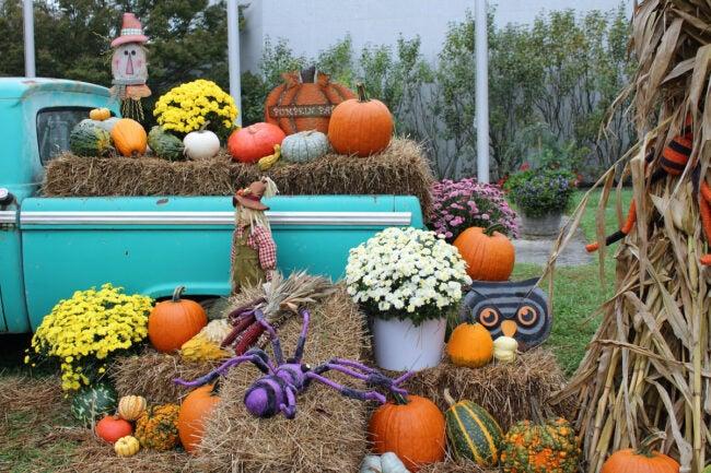 hay bale holiday decor straw bale decoration