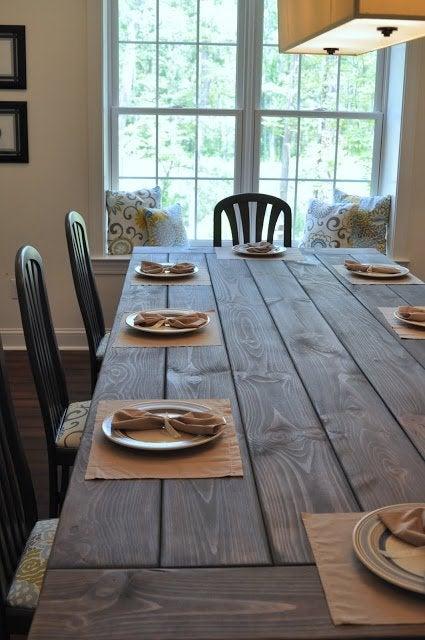 DIY Farmhouse Table Plans - East Coast Creative