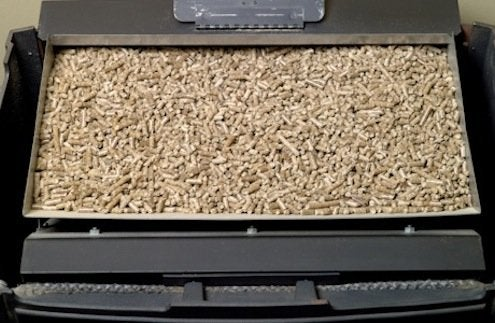 Pellet Stoves - Pellets in hopper