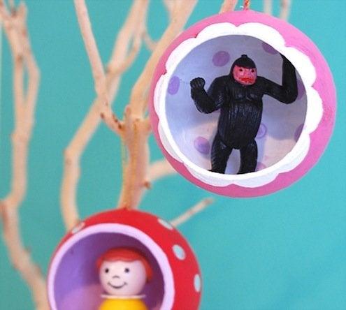 DIY Diorama Ornaments