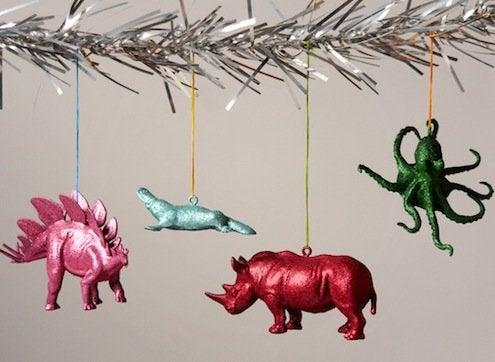 DIY Glitter Animals Ornaments