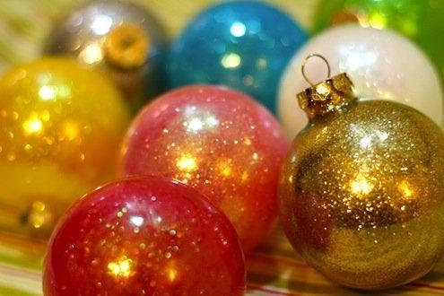 DIY Glitter Filled Ornaments