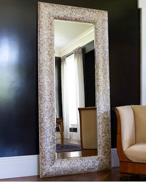 Oversized Mirror - Mother of Pearl Floor Mirror