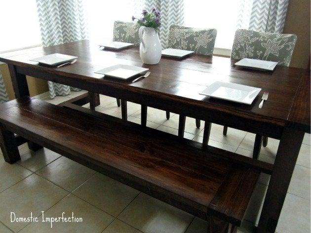 DIY Farmhouse Table Plans - Domestic Imperfection