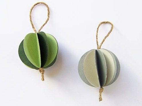 DIY Paper Ball Ornaments