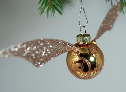 DIY Snitch Ornament