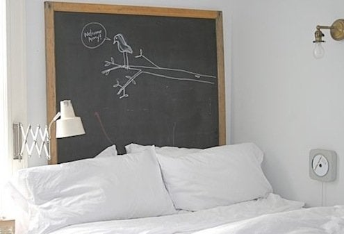 DIY Headboard - Chalkboard