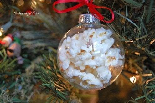 DIY Popcorn Ornaments
