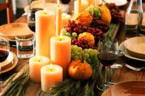 Space Planning Dining Room - Thanksgiving Centerpiece