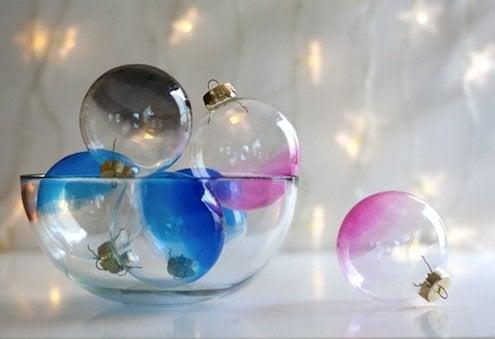 DIY Ombre Ornaments