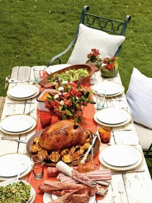 Space Planning Dining Room - Thanksgiving Dinner Outdoors
