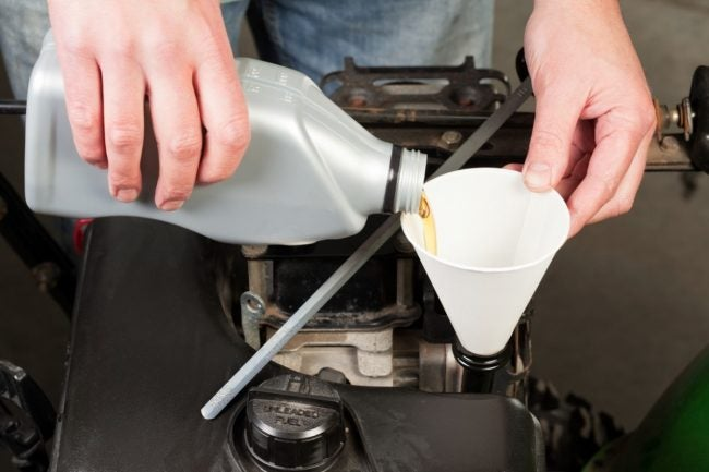 Changing the Oil During Snow Blower Maintenance