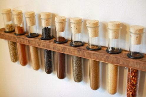 DIY Spice Rack - Test Tubes