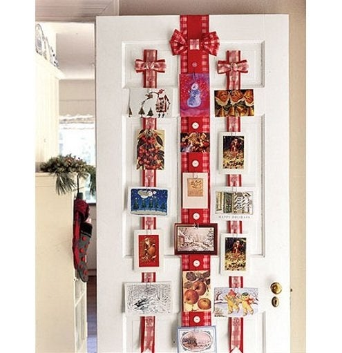 Christmas Card Display - Door Ribbons