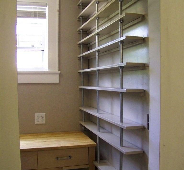 DIY Kitchen Storage - Pantry Shelves