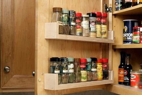 DIY Spice Rack - Cabinet Door