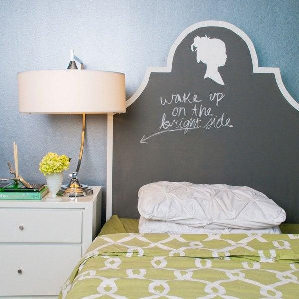 Chalkboard Paint DIY - Headboard