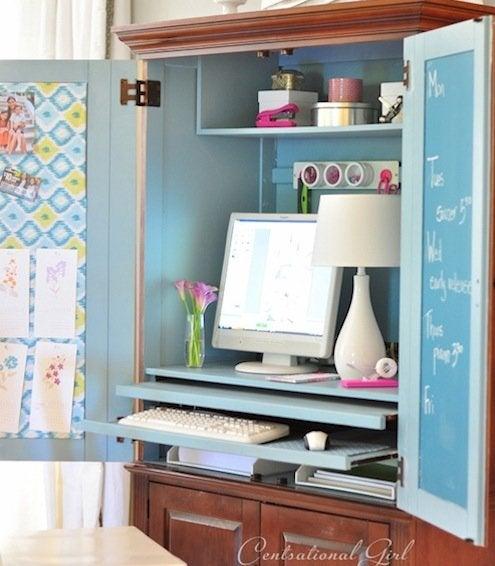 Chalkboard Paint DIY - Armoire Office