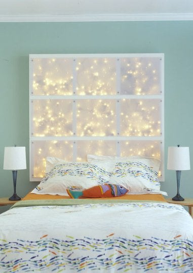 String Lights DIY - Headboard
