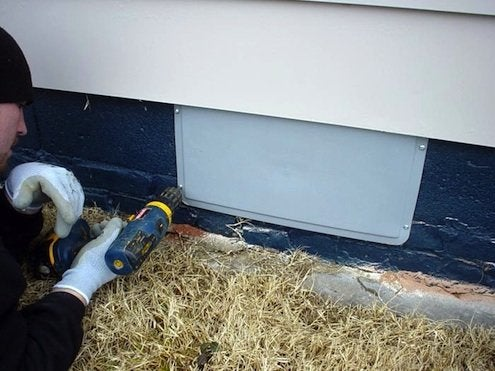 Insulating Crawl Space - Vent Covers
