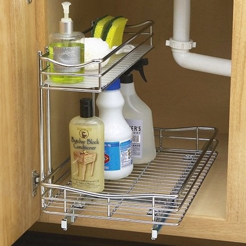 How to Organize Kitchen Cabinets - Awkward Spaces
