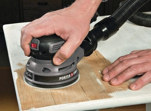 How to Remove Varnish - Random Orbit Sander