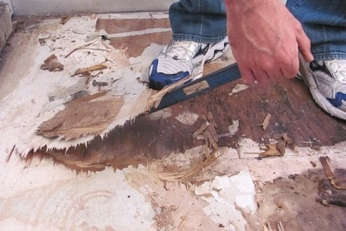 Installing Vinyl Plank Flooring - Damaged Underlayment