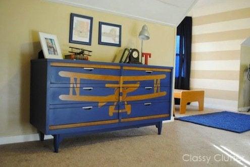 DIY Furniture Upgrades - Stenciled Dresser