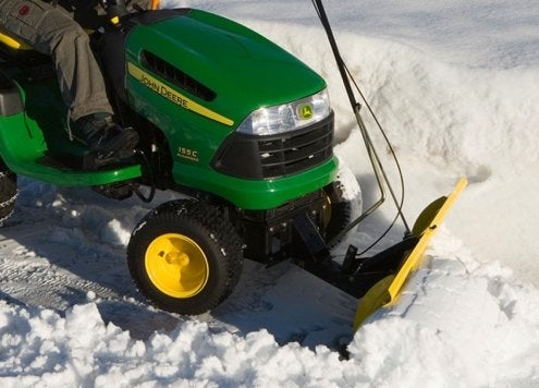 Lawn Tractor Snow Plow - Driveway