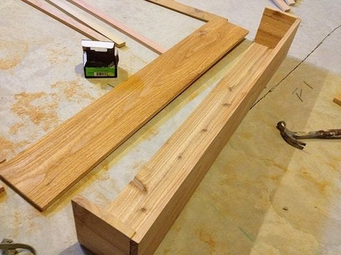 constructing the cedar window box/planter.