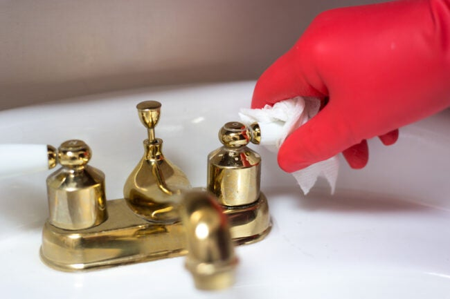 How to Clean Brass - Faucet