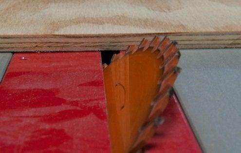 How to Make a Mitered Corner - Table Saw Tilt