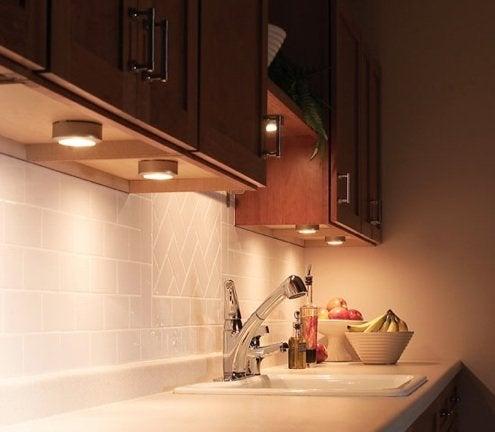 Install Under-Cabinet Lighting - Puck Lights