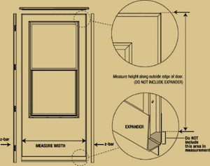 Storm Door Installation - Z Bar Expander