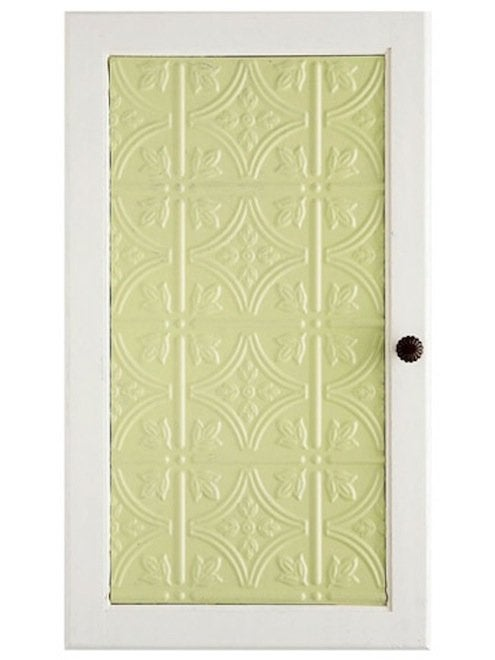 Tin Ceiling Tile DIY - Cabinet