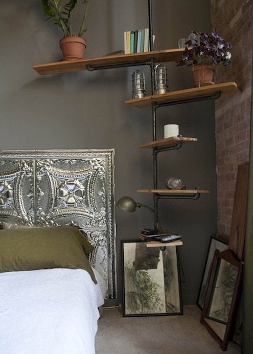 Tin Ceiling Tile DIY - Headboard