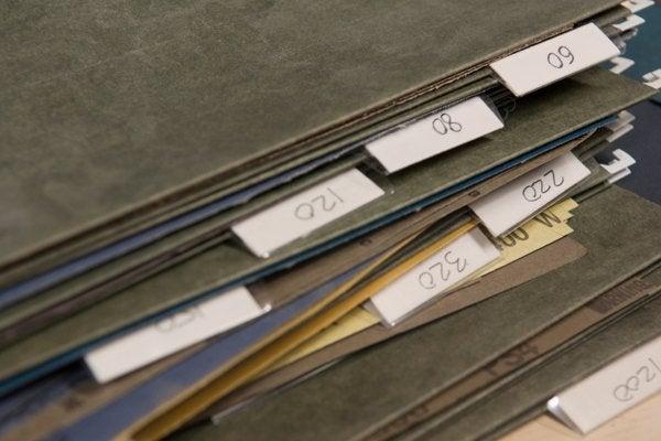 Storing Sandpaper - Hanging Files