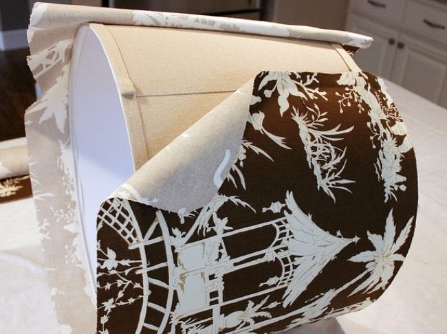 DIY Lampshades - Fabric Covered