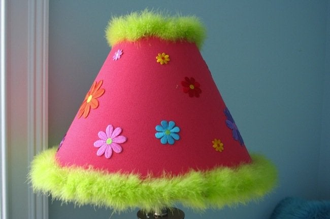 decorated lamp shade