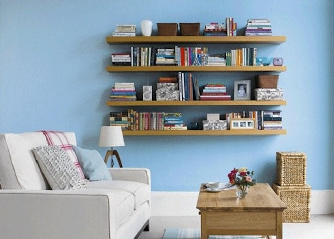 DIY Bedroom Storage - Floating Shelves