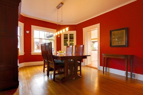 Effects of Color on Mood - Red Dining Room