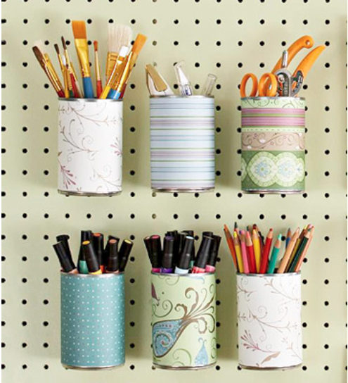 tin can craft organizers