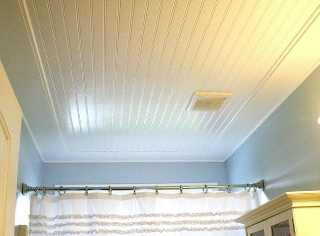 DIY Bathroom Ideas - Beadboard Ceiling