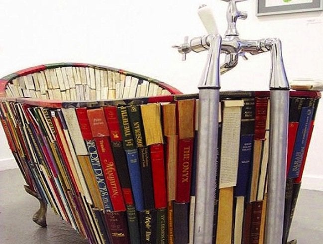 Repurpose Books - DIY Tub