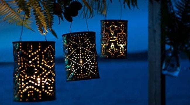 Revive Outdoor Living Areas - DIY Luminaries
